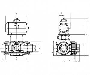Ball Valve E641 with Pneumatic Operator for Oil – EQ641PFA1