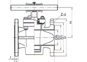 PFA Lined Plug Valve Flange Type for Corrosion Medium – 1